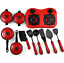 Simulation Cooking Utensils Set  Pretend Play Toy Set For Kids Children New 11pc