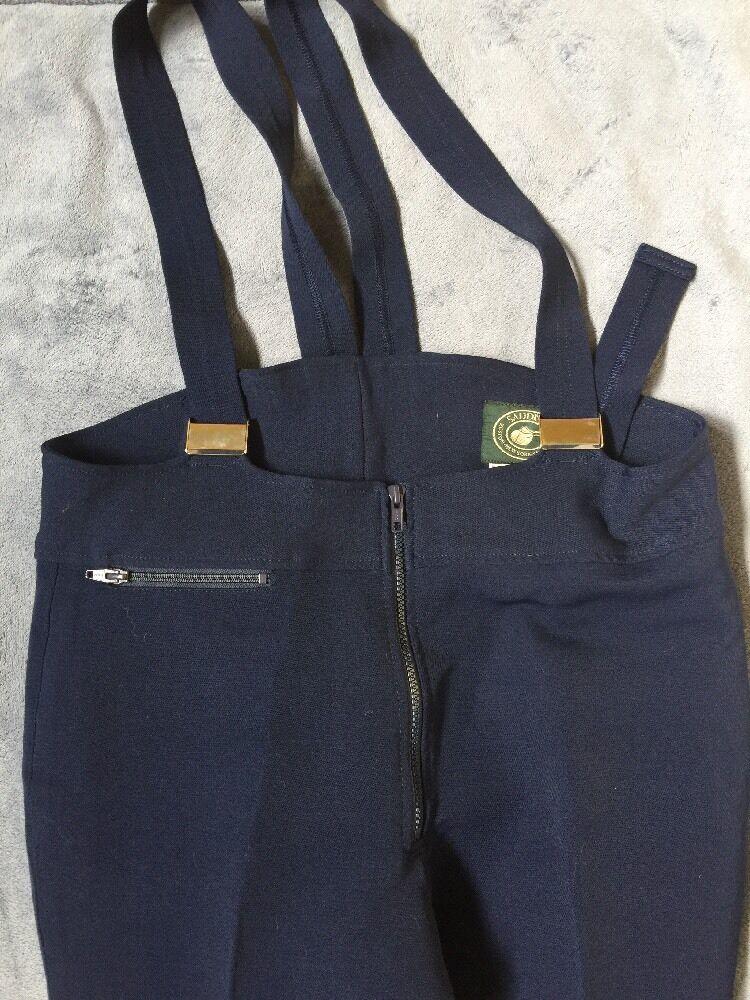 Vintage Wool Blend Blau Saddles Bib Ridding Größe Pants Größe Ridding 34 ef66d8