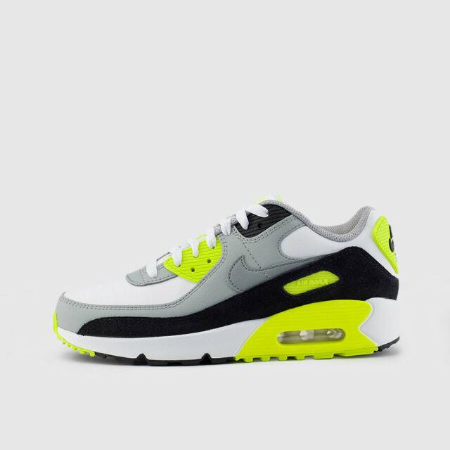 Nike Air Max 90 OG Volt 2020 (GS) WHITE PARTICLE GREY BLACK CD6864 101 Boys 5 7