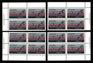 OPC-1978-Canada-30c-Badminton-Inscription-Blocks-Set-Sc-758-MNH-39750