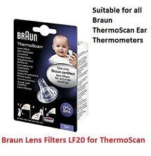 NUOVO lf20 Braun Thermoscan lente filtri copertine Certified Product SONDA GRATIS P&P