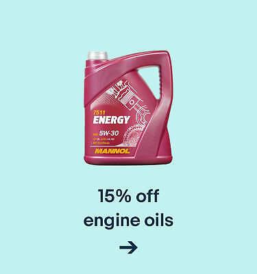 15% off engine oils