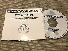 ADRIANO CELENTANO - ATTRAVERSO ME CD SINGLE 1 TRACK PROMO CLAN 94 TOUR SLEEVE
