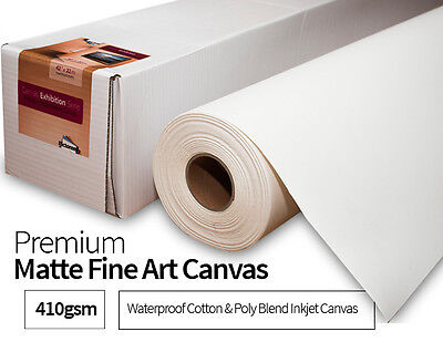 "42"" x 72ft (22m) Premium Exhibition Fine Art Inkjet Matte Canvas Roll 410gsm"