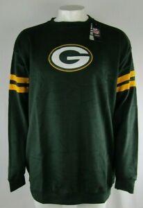 Green-Bay-Packers-NFL-Majestic-Big-amp-Tall-Green-LS-Fleece-Crew-Sweatshirt-XLT-5X