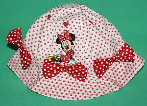 92db2285185 DISNEY PARKS MINNIE MOUSE INFANT BABY HAT NEW MINNIE RED POLKA DOT ...