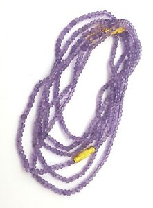 Natural-Amethyst-Faceted-Rondelle-Bead-Strand-18-inch-3-5-MM