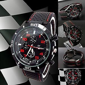 c1d32e2a9da3 GT 54 GRAND TOURING Silicone Band Quartz Analog Sport Watch - Black ...