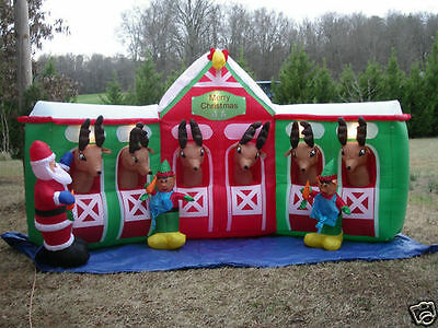 Reindeer Stable Christmas Inflatable collection on eBay!