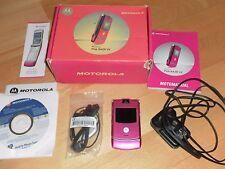 Motorola Razr V3-Rosa (Desbloqueado) Teléfono Móvil En Caja