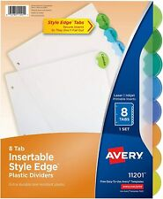 Avery Insertable Style Edge Tab Plastic Dividers 8 Tab Letter 11 X 85 Avery