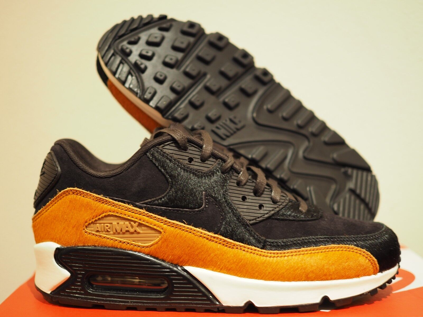 quality design dc2ce 6e65d Women s Nike Air Max 90 LX Black Tan Size 7.5 7.5 7.5 Pony Hair Casual Shoes.  Nike Air Force 1 Upstep ...