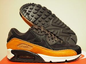 90b8b0f0e7 Women's Nike Air Max 90 LX Black Tan Size 7.5 Pony Hair Casual Shoes ...