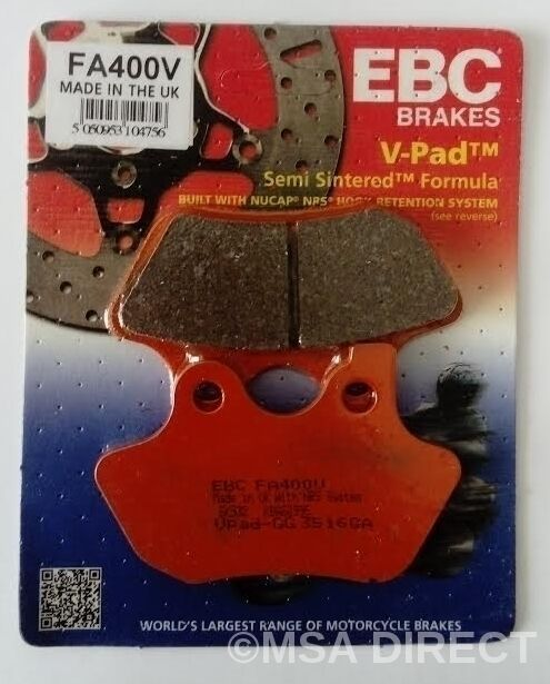 Harley Davidson FLSTN Softail Deluxe (2005 to 2007) EBC V-Pad FRONT Brake Pads