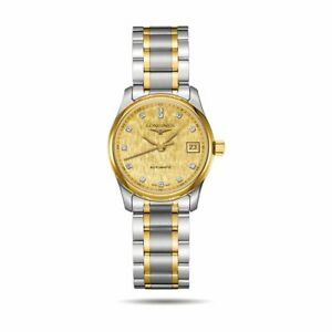 LONGINES-L2-128-5-38-7-Master-collection-18-kt-gold-and-Diamonds-steel-watch