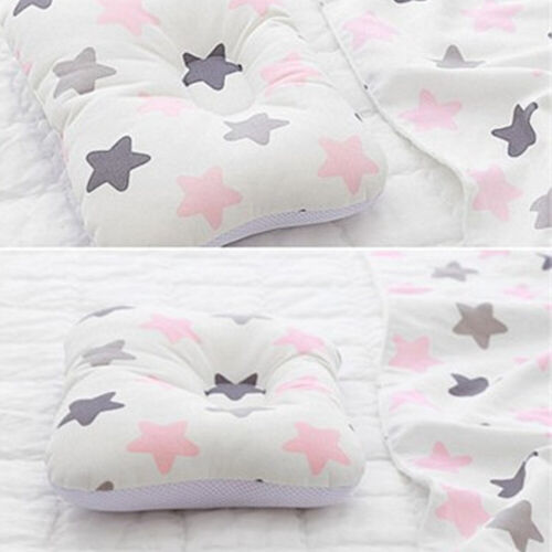 Baby Infant Pillow Newborn Anti Flat Head Syndrome for Crib Bed Neck-Support IN9