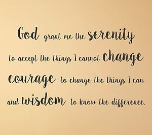 Image Is Loading Serenity Prayer Wall Decal Quote Mural Religious Decor