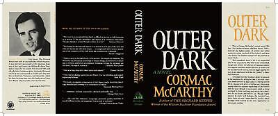 Doeltreffend Facsimile Dust Jacket Only Cormac Mccarthy Outer Dark 1st Edition 1968