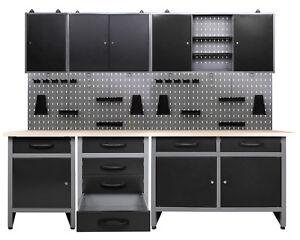Ondis24 Werkstatt Set 240cm 3x Werkbank Metall 3x ...