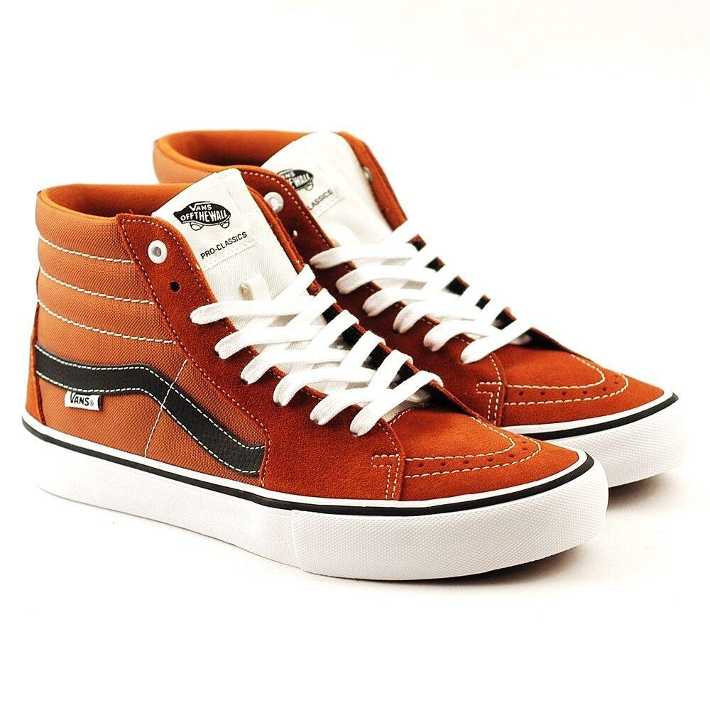Vans SK8 HI PRO Glazed Jengibre Negro blancoo De Hombre Zapatos 7.5 - para mujer 9