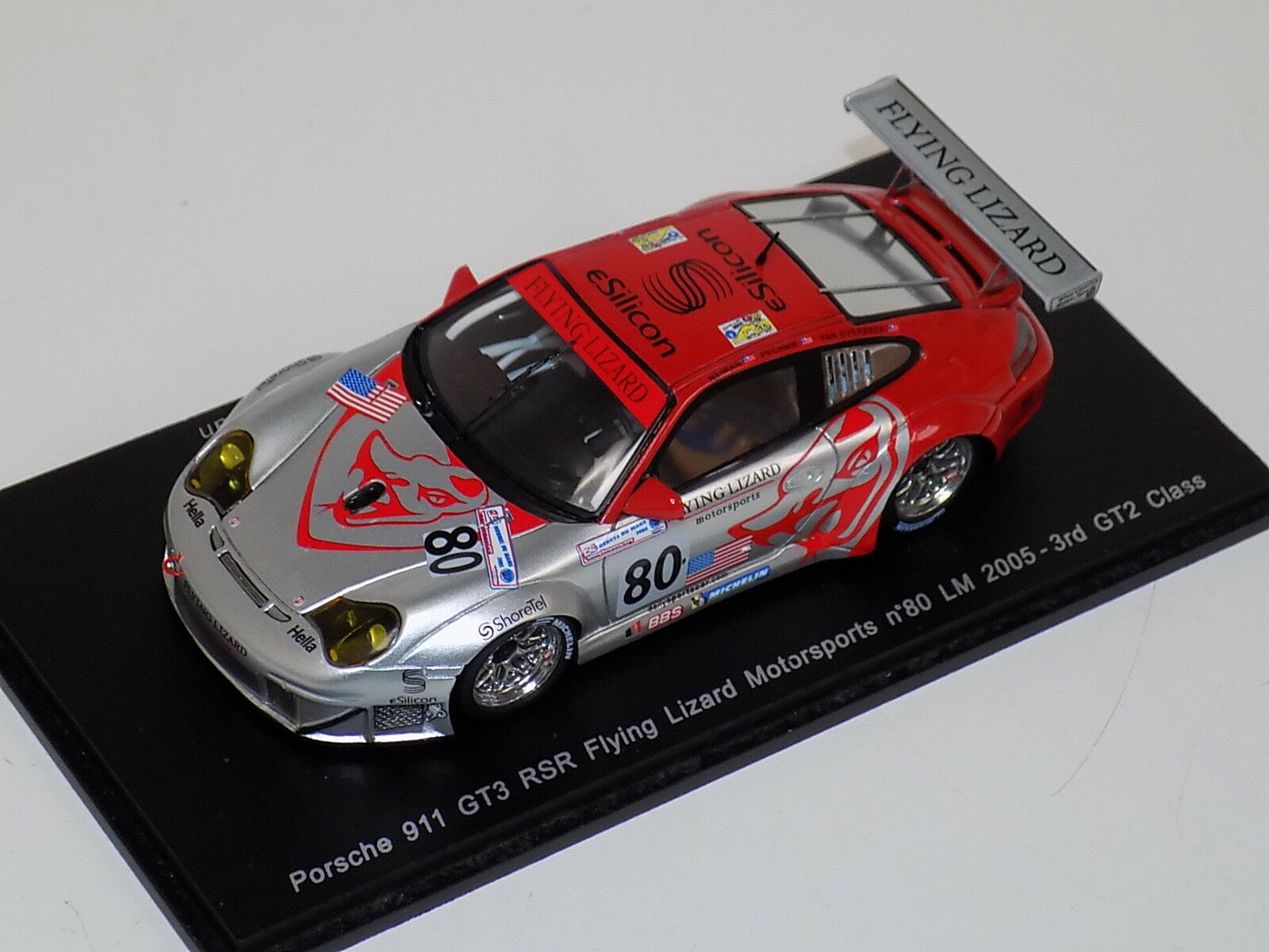 1 43 Spark Porsche 911 GT3 RSR Car rd GT2 2005 24 Hours of LeMans  S0915