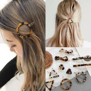 Femme-Mode-Epingle-a-Cheveux-Geometrie-Leopard-Barrette-Accessoire-de-Cheveux
