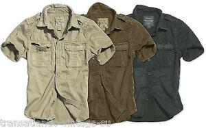 Surplus Militare Camicia da Uomo Raw Vintage Look Manica Lunga 100/% Cotton