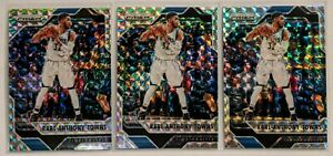 2016-17-Panini-Prizm-Silver-Mosaic-Karl-Anthony-Towns-51-LOT-x3-Timberwolves