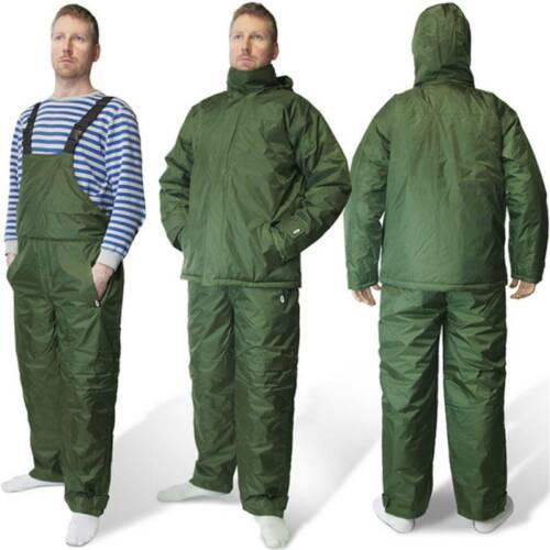 2pc all weather carp pêche chasse costumes bib and brace avec veste imperméable