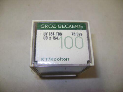 100 Taille 75//029 Groz-Beckert UY154 SCT U0X154 Machine à Coudre Aiguilles A31