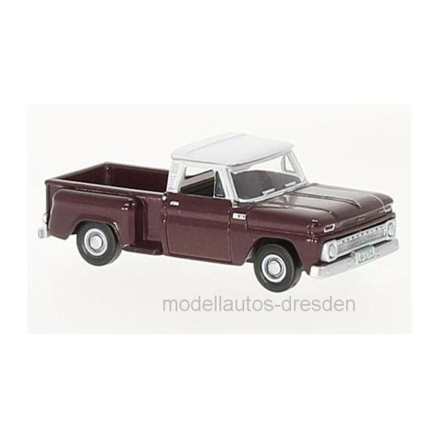 Oxford 87CP65003 Chevrolet Stepside Pick-Up Rojo Oscuro / Blanco 1:87 (222244)