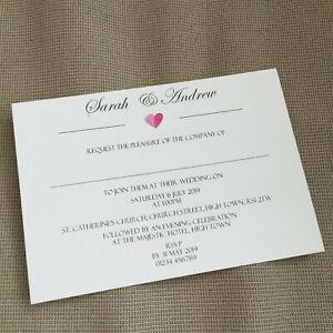 10-Personnalise-Mariage-Soiree-Invitations-invite-Classic-Vintage-Rustique-Coeur