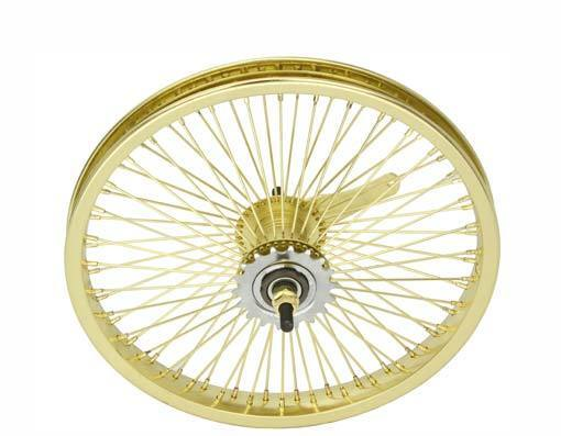 BICYCLE 16   REAR WHEEL gold W  72 SPOKES COASTER CRUISER LOWRIDER BIKES  various sizes