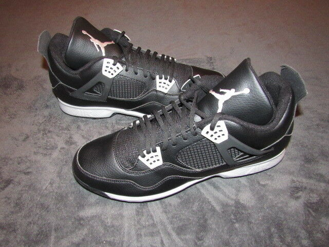 NWOB Air Jordan 4 Retro IV Metal Baseball Cleats Size 14 Black Grey 807710-010