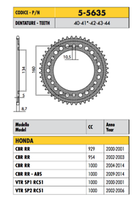 5-5635-CORONA-ERGAL-PASSO-520-YAMAHA-YZF-R6-520-Conv-Marchesini-Wheels-2008