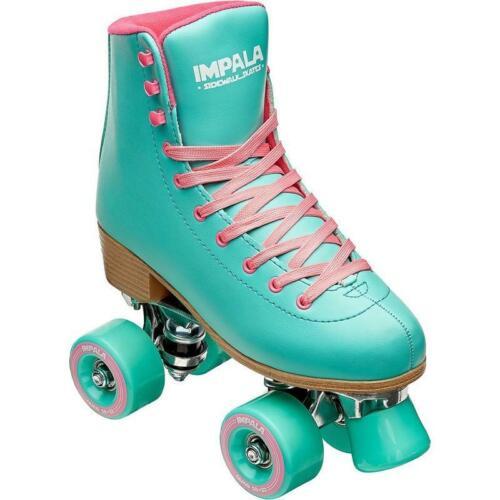 10 9 8 Quad Roller SkatesWomensSize: 6 7 NEW Impala Aqua 11