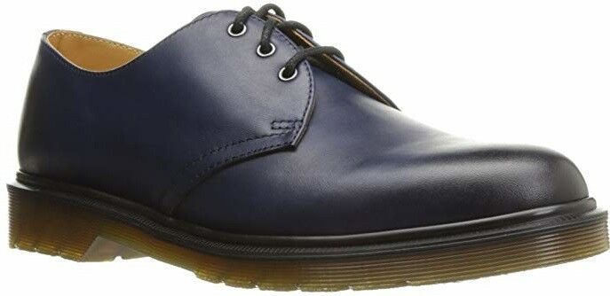 Dr. Martens Men's 14 1461 Antique Temperley Oxford Navy bluee