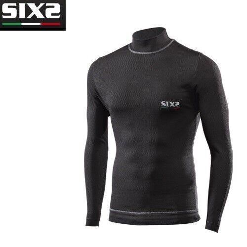 Maglia Lupetto maniche lunghe Moto SIXS BLACK CARBON 4 STAGIONI TS4 PLUS