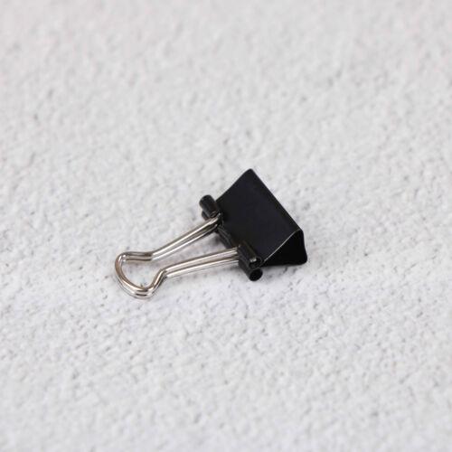 12pcs raccoglitore nero metallo clip File graffetta foto forniture per ufficioWF