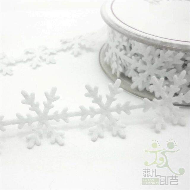 2 Metres White Snowflake Ribbon Trimming Craft Embellishment Scrapbook U pick
