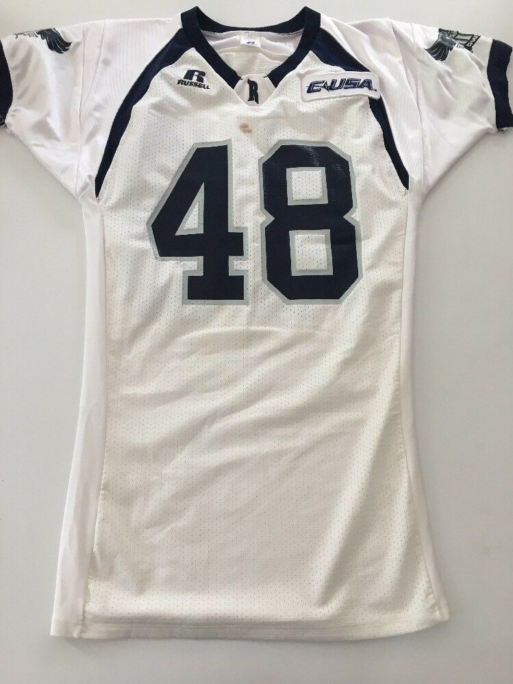 Game Owls Worn Used Adidas Rice Owls Game Football Jersey Size L 0a02e9