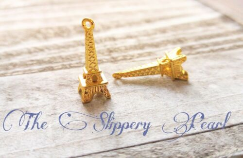 10 Eiffel Tower Charms Gold Eiffel Tower Charms Paris Charms France Charms