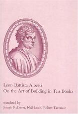 On the Art of Building in Ten Books by Alberti, Leon Battista