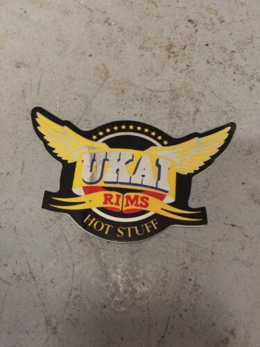 VINTAGE ORIGINAL 70s 80s UKAI RIMS HOT STUFF OLD SCHOOL BIKE BICYCLE STICKER BMX