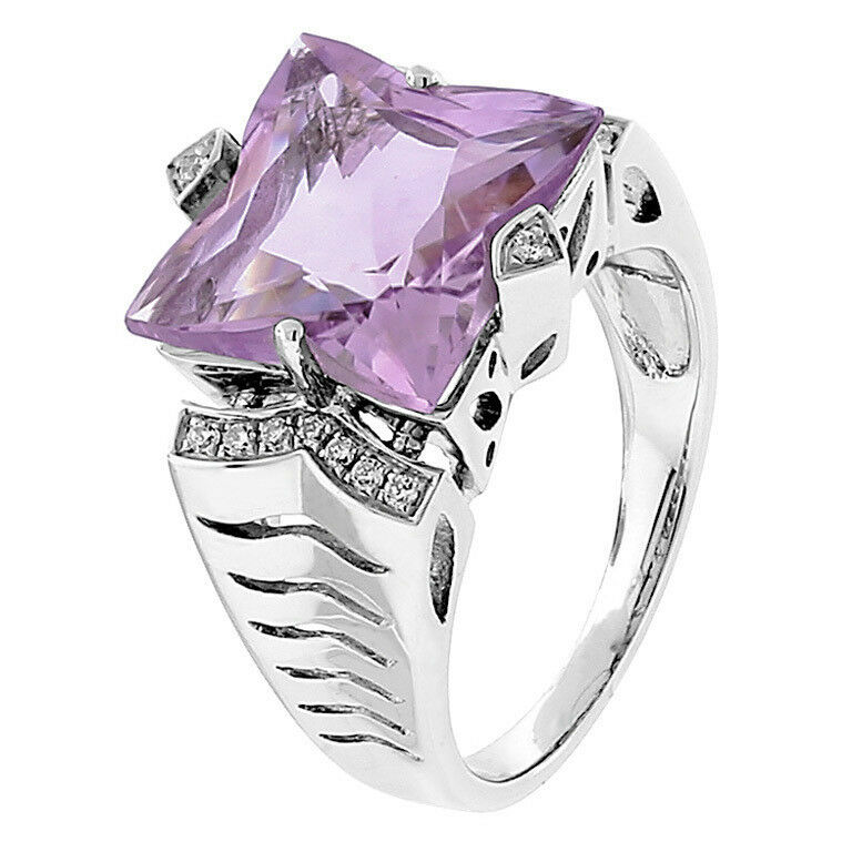 Pink de France Amethyst Diamond gold Ring