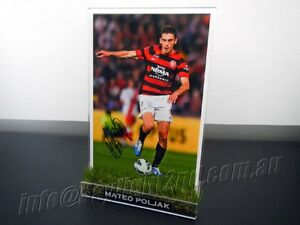 Signed-MATEO-POLJAK-Photo-amp-Frame-PROOF-COA-Western-Sydney-Wanderers-Jersey