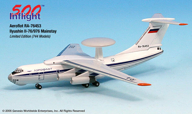 InFlight500 Russian Aeroflot RA-76453 IL-76 1 500 Scale Diecast CCCP Diecast
