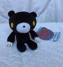 "Gloomy Plush Black Bear Yellow Eyes White Claws Mori Chack 5"" Hang Tag Cube Work"