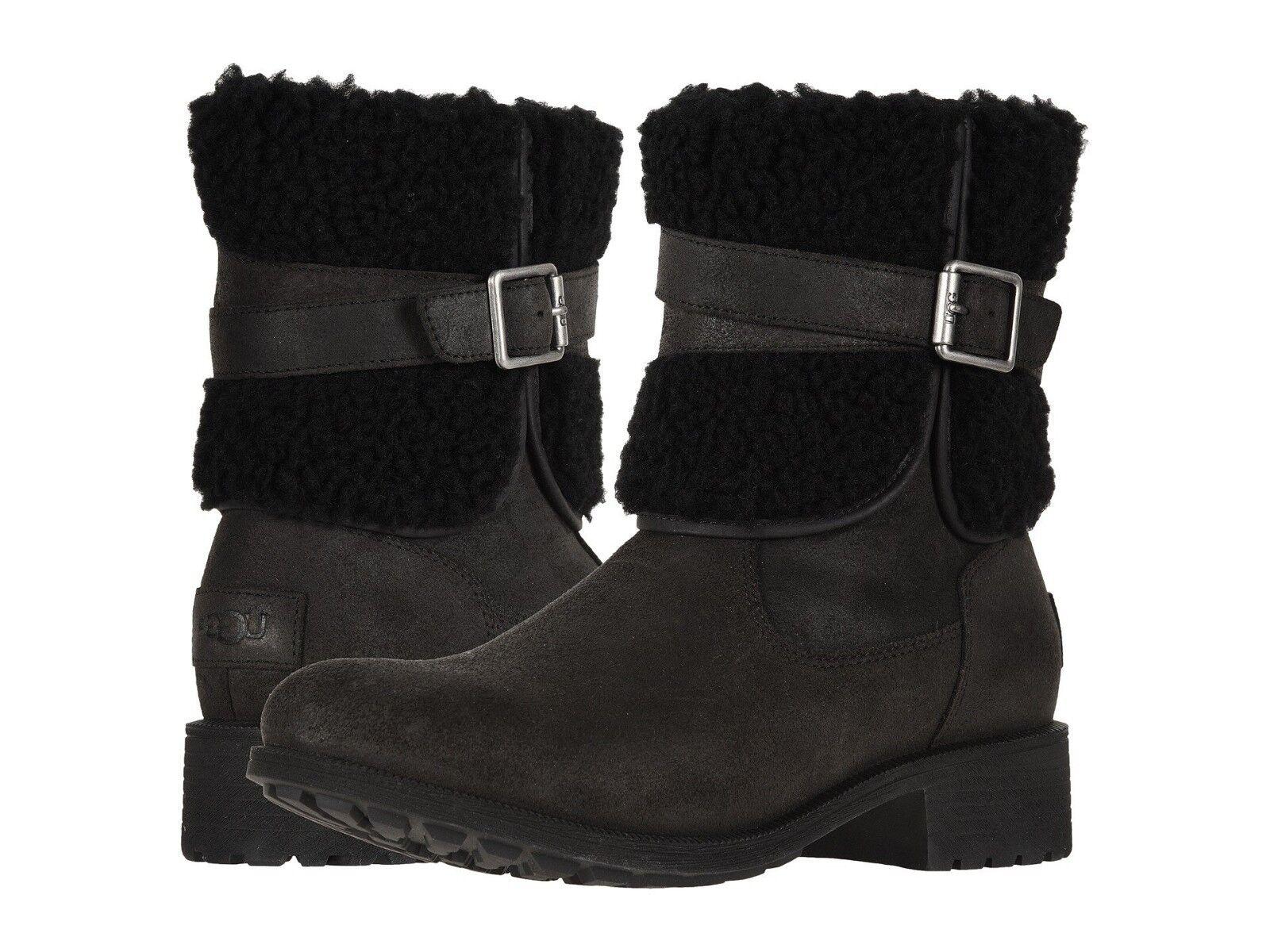 Zapatos para mujer Botas con cuello de piel de oveja UGG BLAYRE III 1095153 NEGRO * Nuevo *