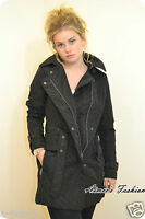 NEXT PREMIUM BLACK QUILTED LONG LINE BELTED COAT UK 8,10,12,14,16,18,20,22
